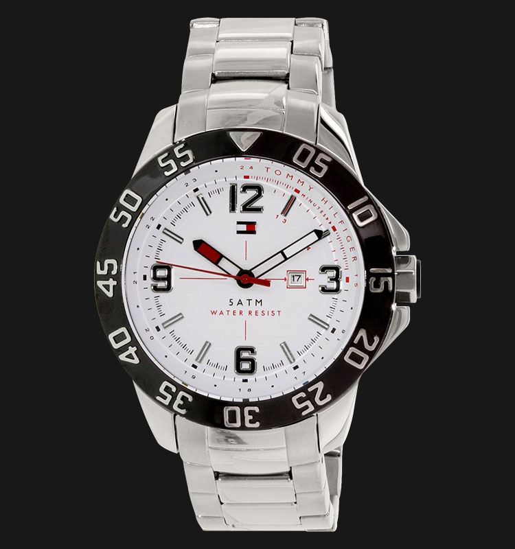 Tommy Hilfiger 1790988 White Dial Stainless Steel Machtwatch