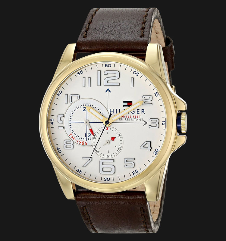 Tommy Hilfiger 1791003 Stainless Steel Brown Leather Strap Machtwatch