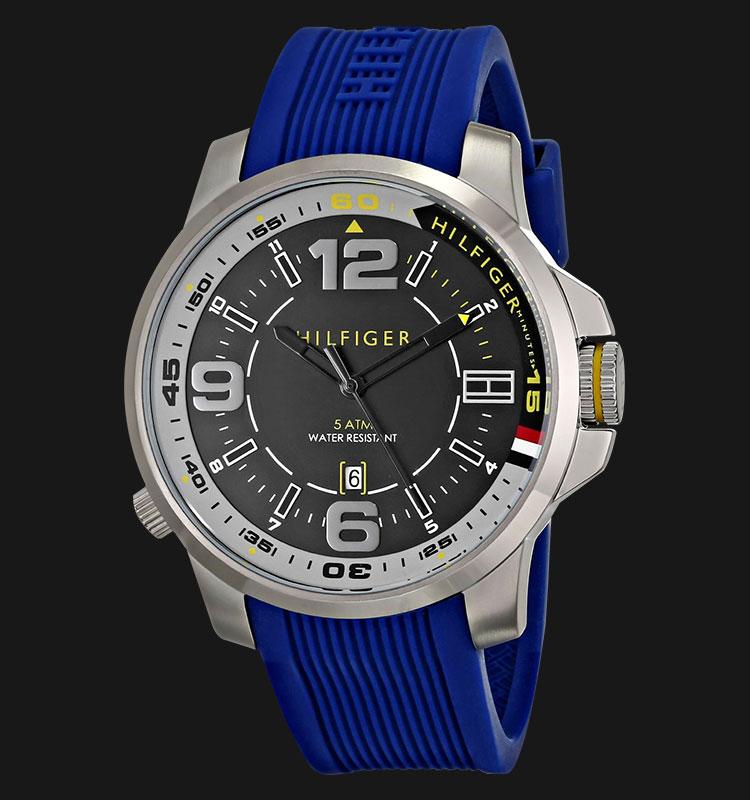 Tommy Hilfiger 1791010 Stainless Steel Blue Rubber Strap Machtwatch