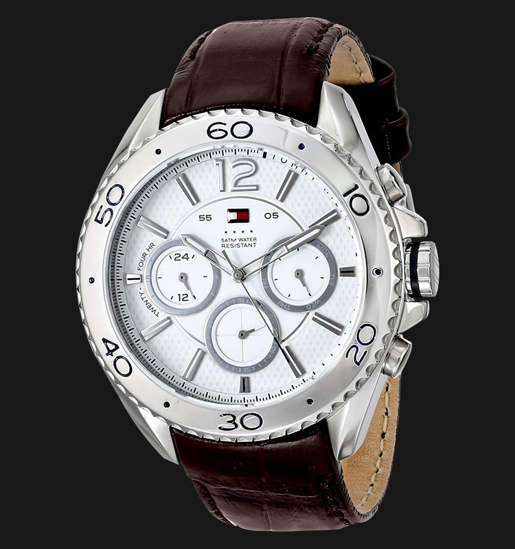 Tommy Hilfiger 1791030 Stainless Steel Brown Leather Strap Machtwatch
