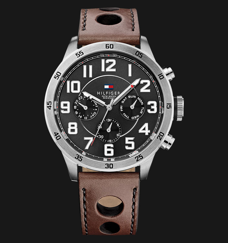 Tommy Hilfiger 1791049 Stainless Steel Brown Leather Strap Machtwatch