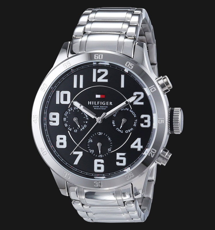 Tommy Hilfiger 1791054 Black Dial Stainless Steel Bracelet Machtwatch