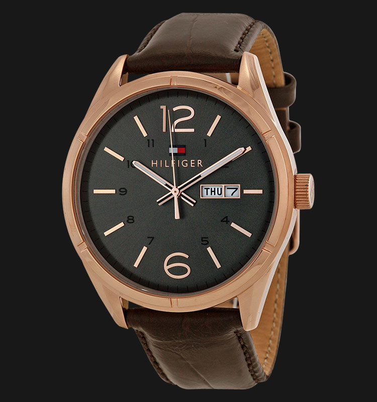 Tommy Hilfiger 1791058 Stainless Steel Brown Leather Strap Machtwatch