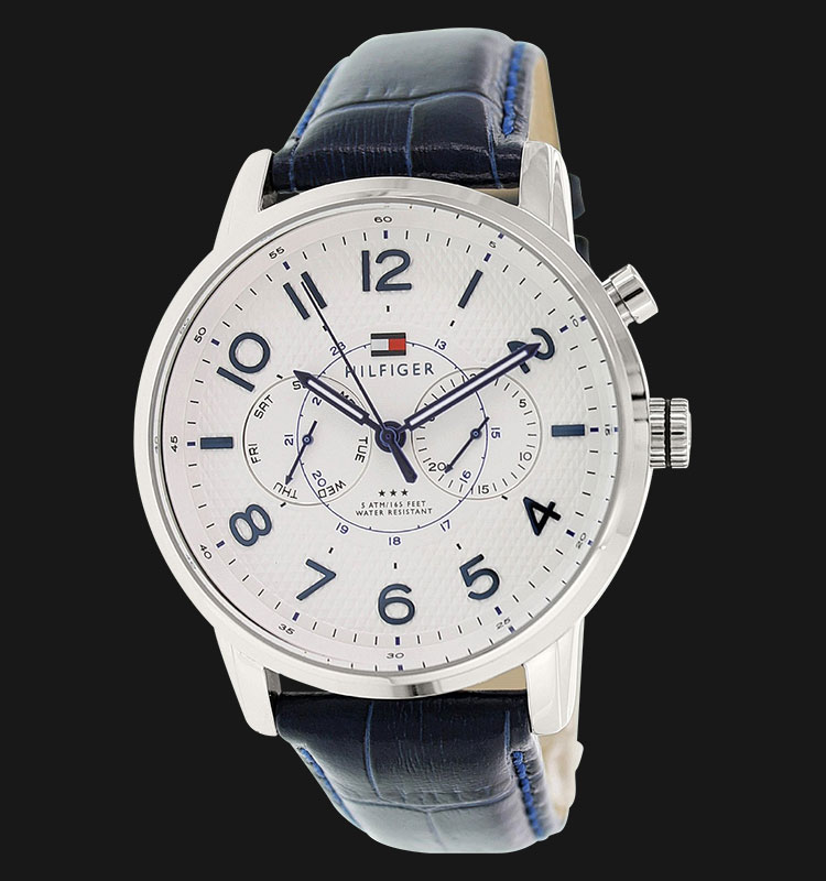 Tommy Hilfiger 1791085 Stainless Steel Blue Leather Strap Machtwatch