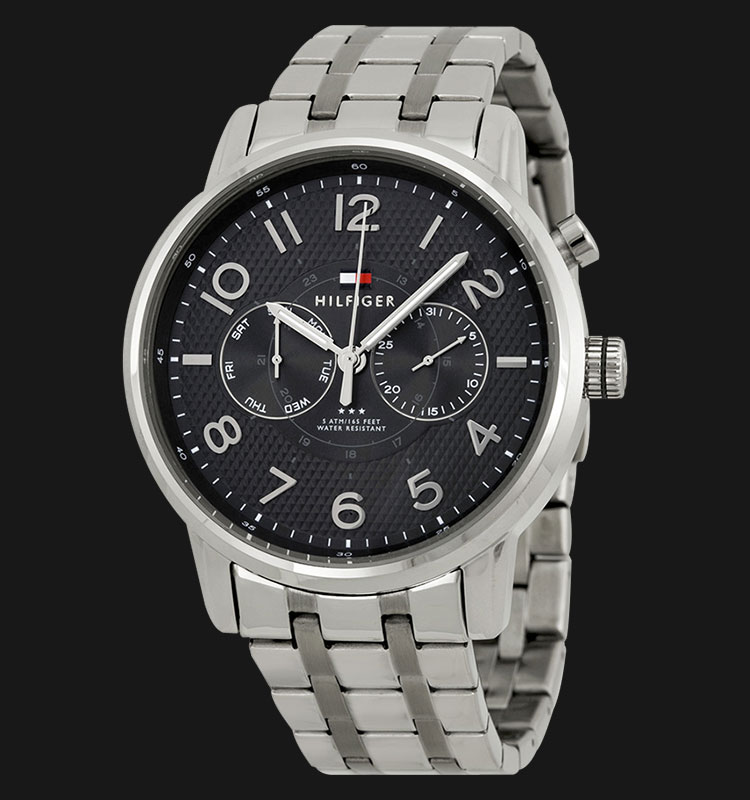 Tommy Hilfiger 1791086 Black Dial Stainless Steel Silver Machtwatch
