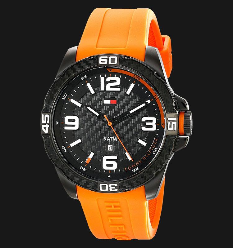 Tommy Hilfiger 1791088 Stainless Steel Oranye Rubber Strap Machtwatch