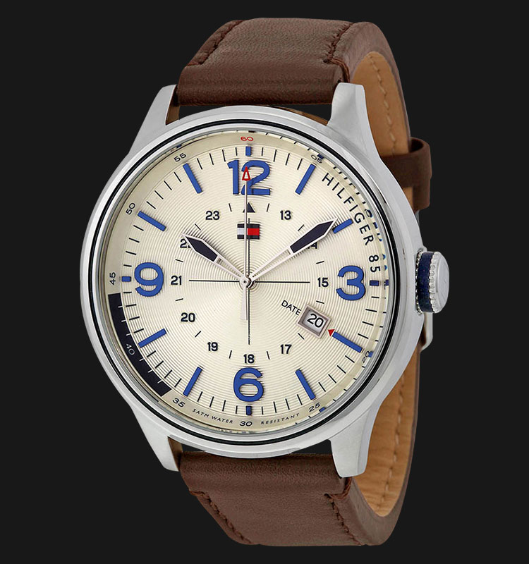 Tommy Hilfiger 1791102 Stainless Steel Brown Leather Strap Machtwatch