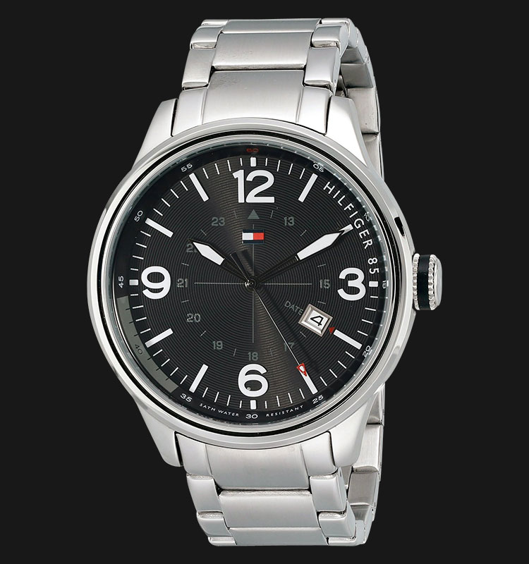 Tommy Hilfiger 1791105 Black Dial Stainless Steel Silver Machtwatch