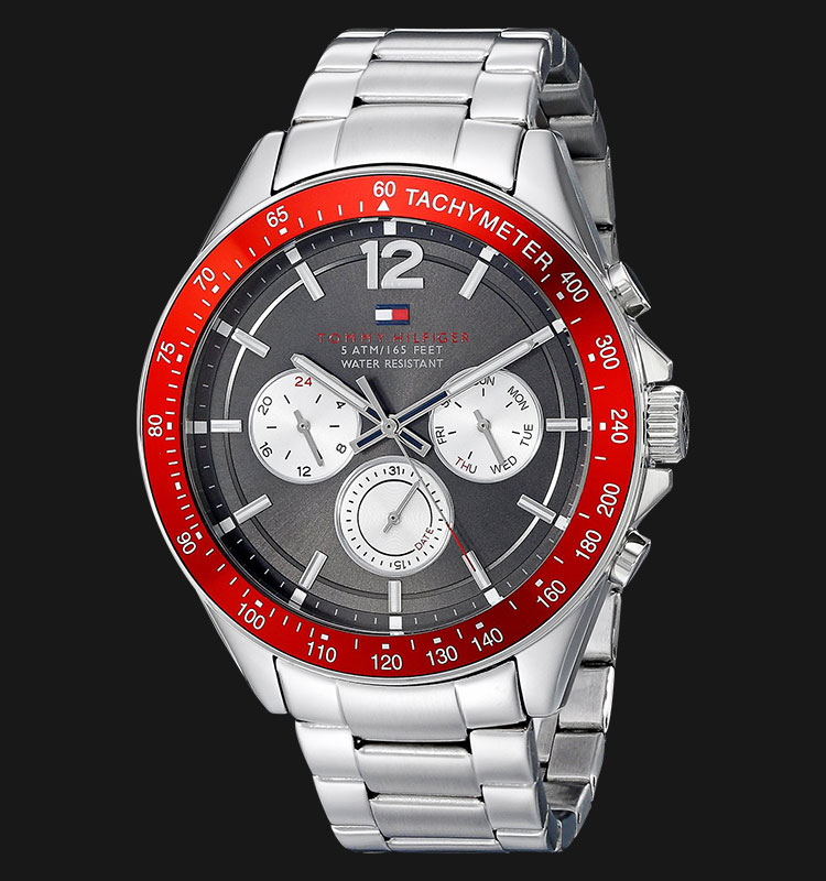 Tommy Hilfiger 1791122 Grey Dial Stainless Steel Silver Machtwatch