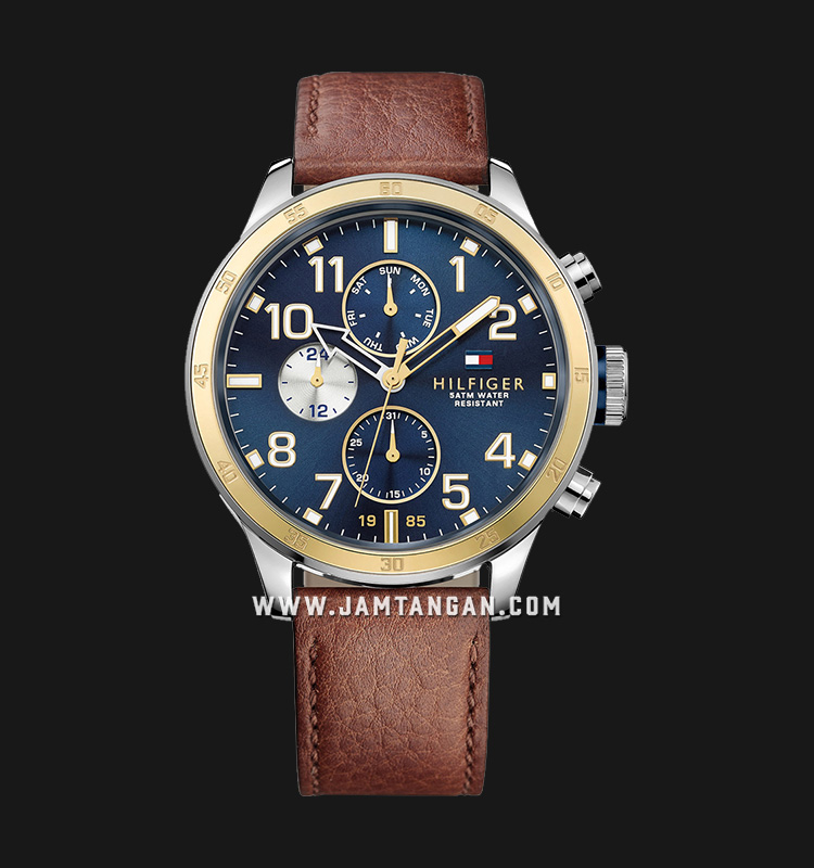Tommy Hilfiger 1791137 Stainless Steel Brown Leather Strap Machtwatch