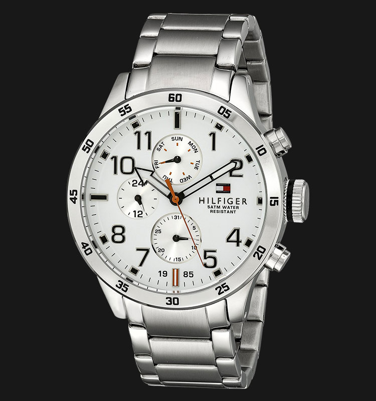 Tommy Hilfiger 1791140 White Dial Stainless Steel Silver Machtwatch