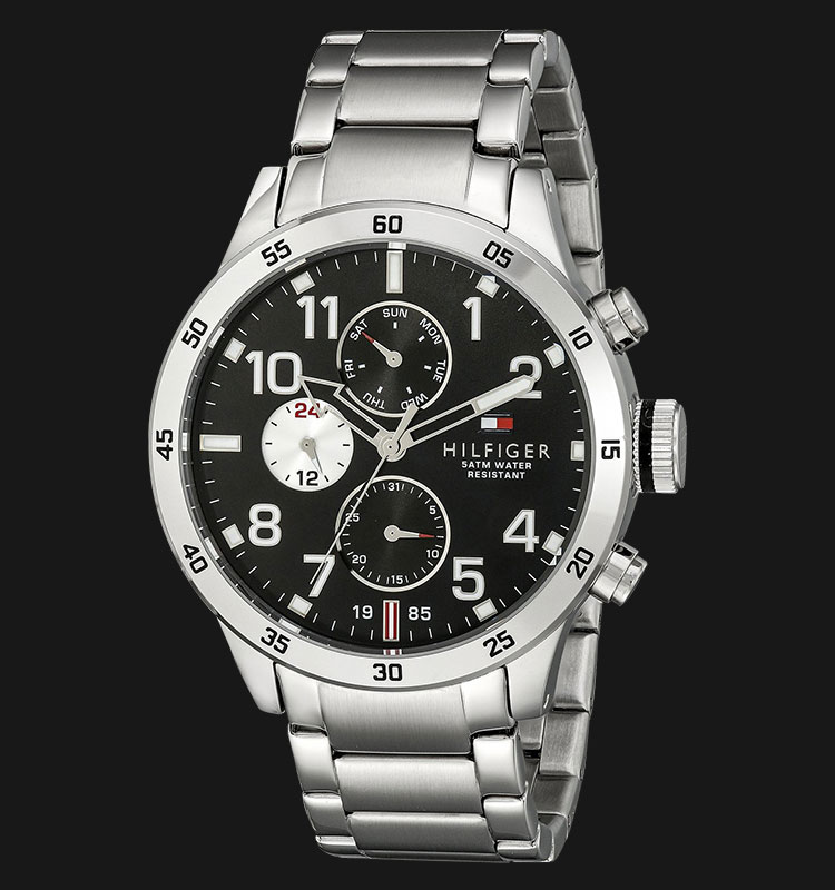 Tommy Hilfiger 1791141 Black Dial Stainless Steel Silver Machtwatch