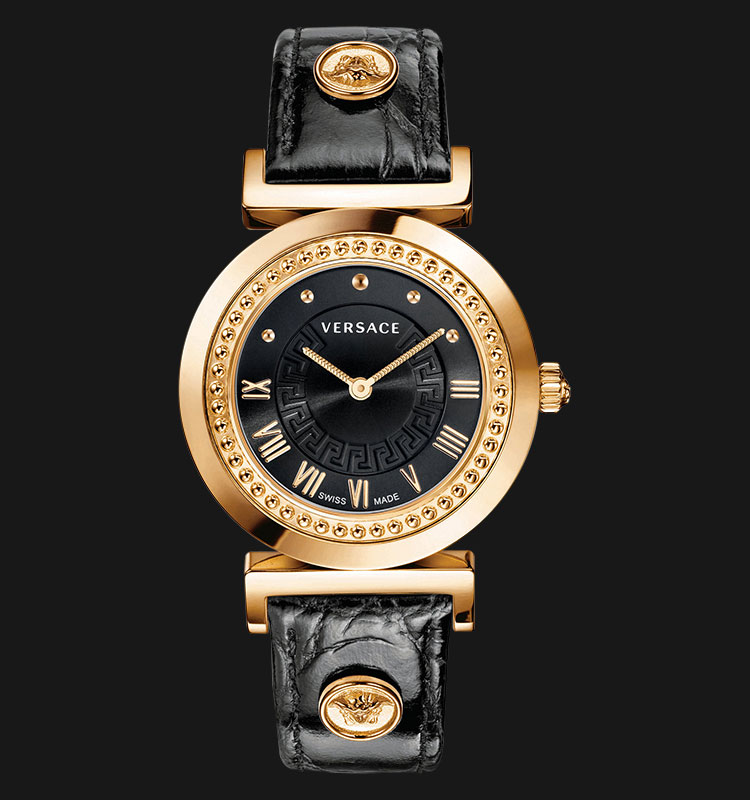 VERSACE P5Q80D009 S009 Vanity Rose Gold Ion Plated Machtwatch