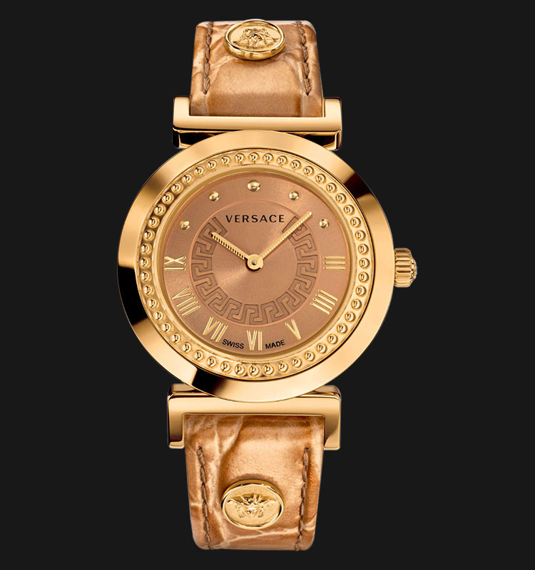 VERSACE P5Q80D999 S999 Vanity Rose Gold Ion Plated Machtwatch