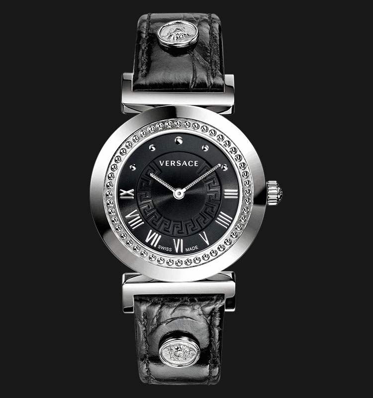 VERSACE P5Q99D009 S009 Vanity Stainless Steel with Leather Band Machtwatch