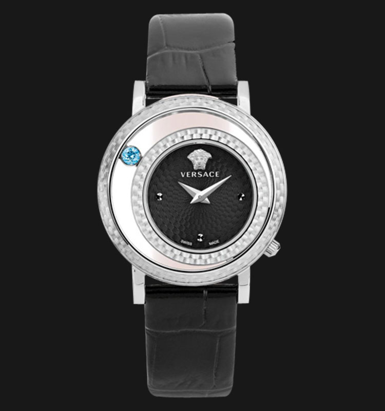 VERSACE VDA01 0014 Venus Black Leather Strap Machtwatch