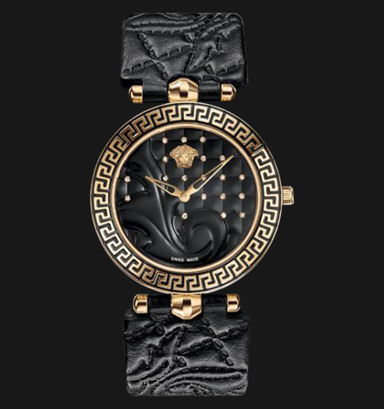 VERSACE VK707 0013 Vanitas Rose Gold Ion Plated Leather Strap Machtwatch