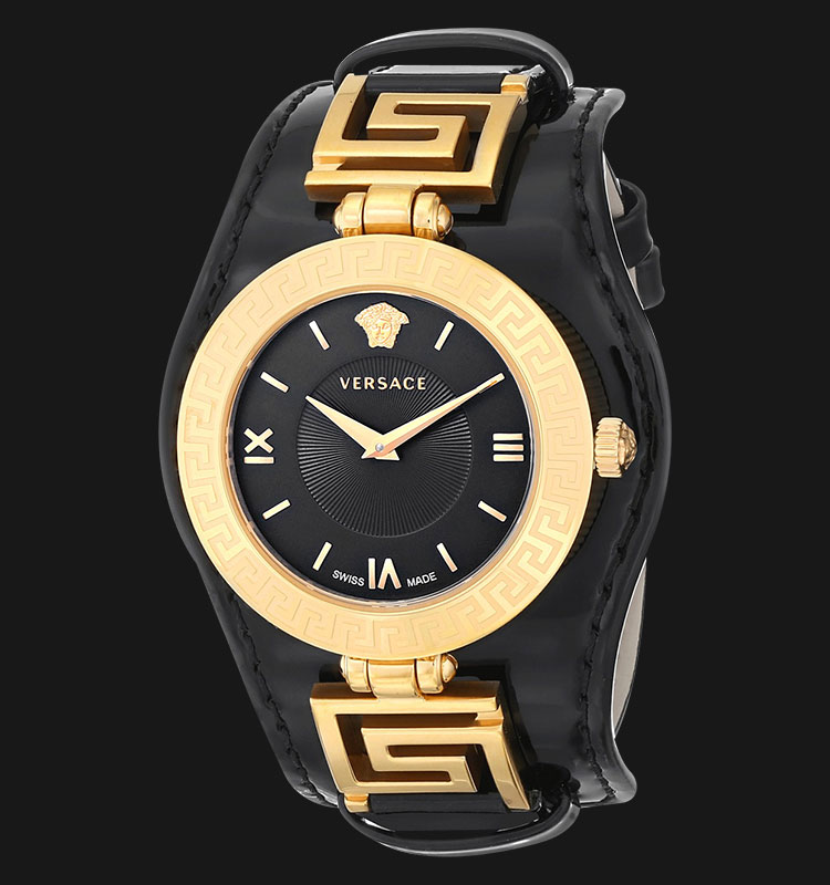 VERSACE VLA02 0014 V-Signature Black Leather Strap Machtwatch