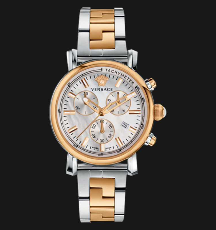 VERSACE VLB09 0014 Day Glam Two-Tone Stainless Steel Machtwatch