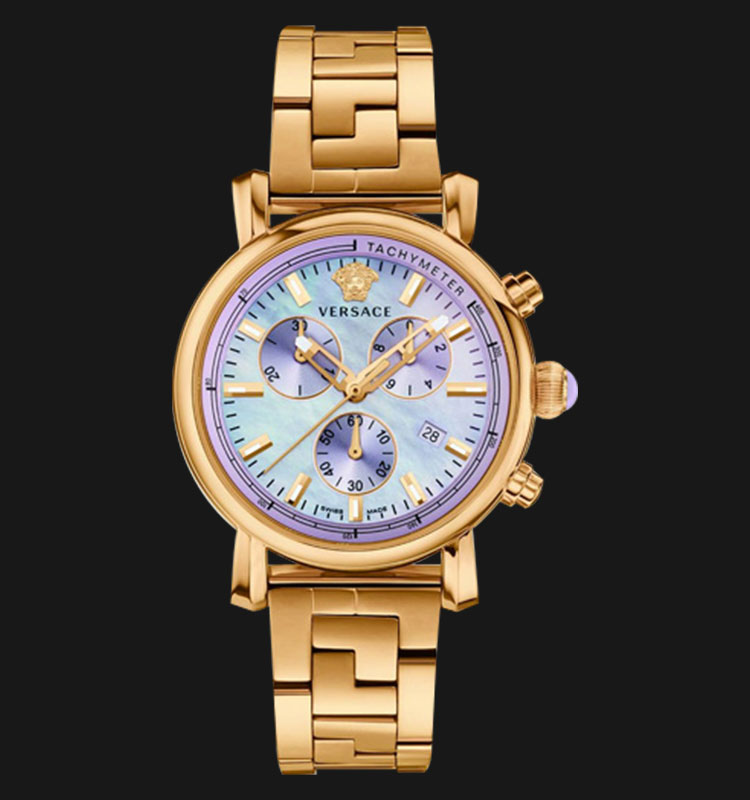 VERSACE VLB10 0014 Day Glam Ion Plated Stainless Steel Machtwatch