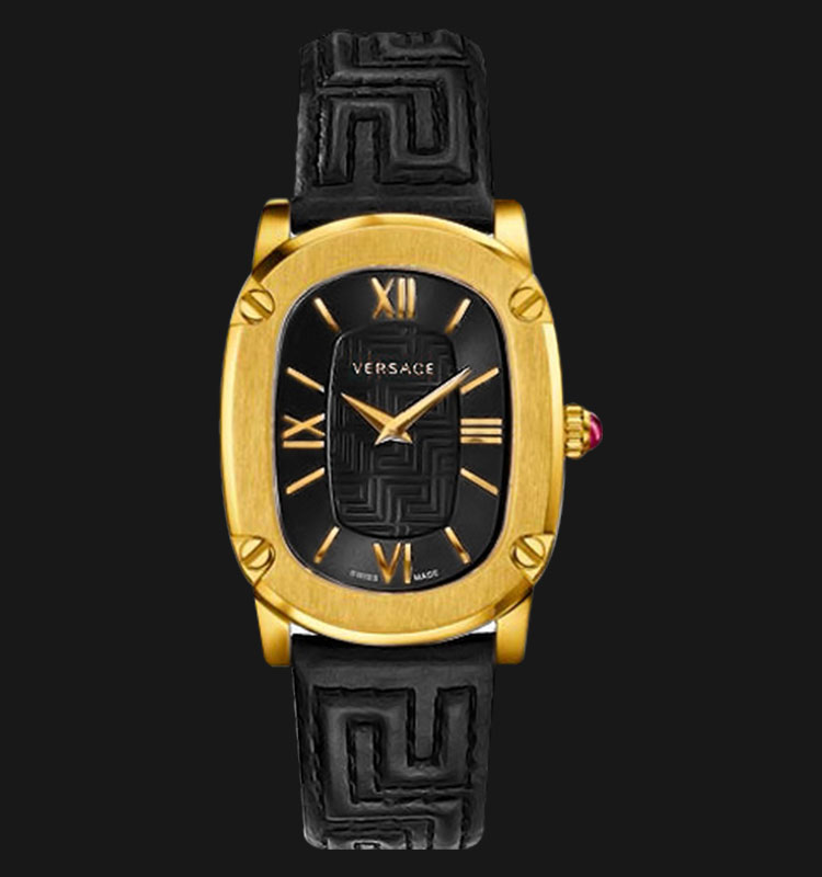 VERSACE VNB03 0014 Couture Black Leather Strap Machtwatch