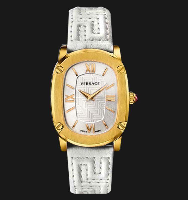 VERSACE VNB04 0014 Couture White Leather Strap Machtwatch