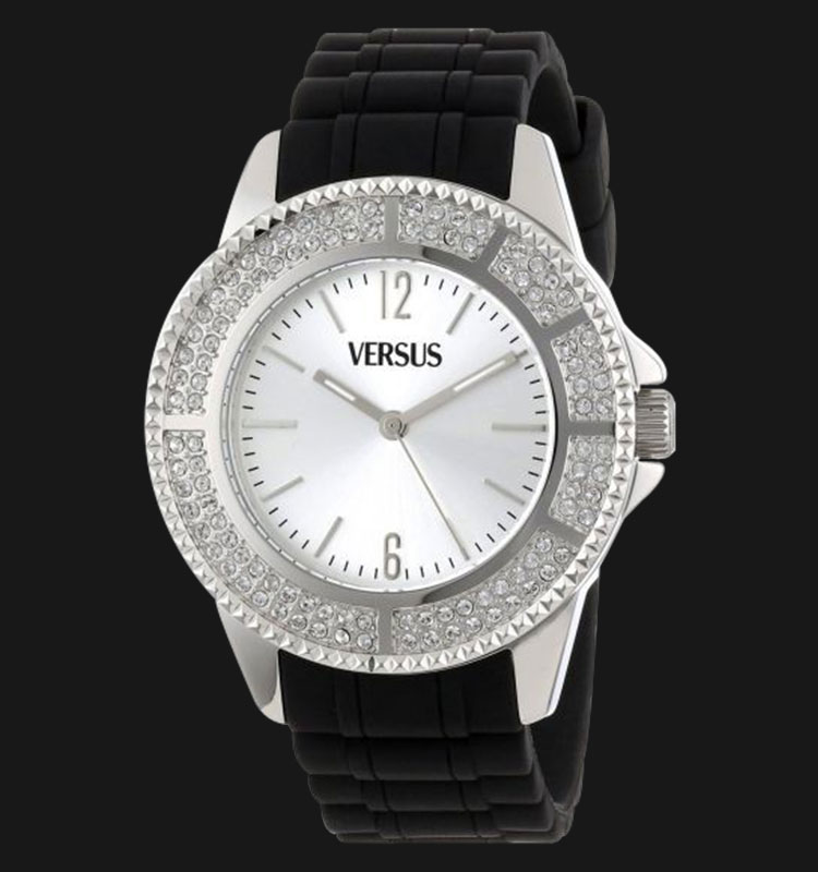 VERSUS SGM05 0013 Tokyo Crystal Round Stainless Steel Silver Sunray Dial Crystal Machtwatch