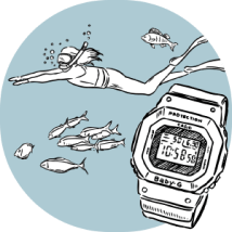 Baby G BGA-240 Water Resistant